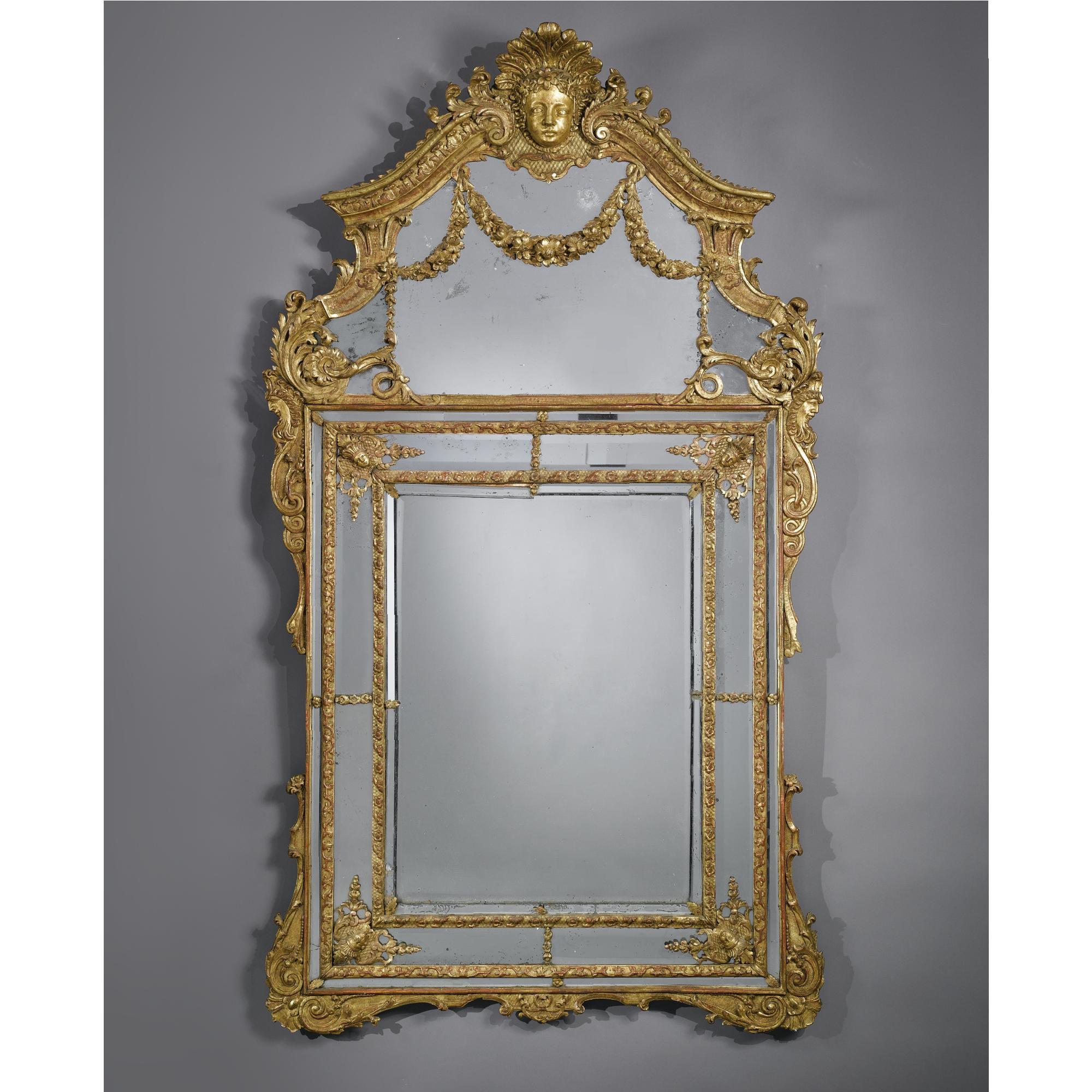 c1710 A fine Régence giltwood mirror circa 1710 Estimate