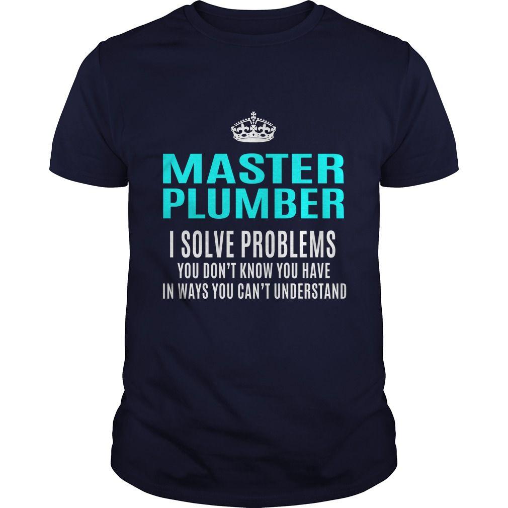 MASTER PLUMBER T-Shirts, Hoodies. VIEW DETAIL ==►…