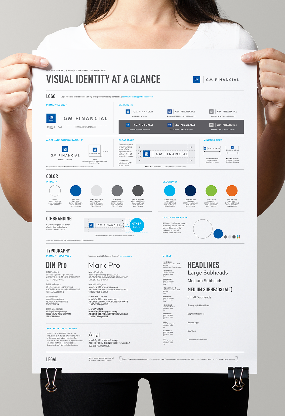 Gm Financial Brand Manual Poster On Behance Brand Manual
