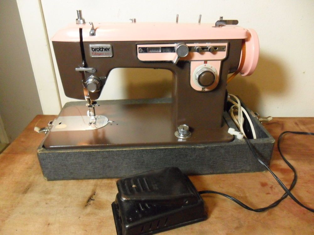 Vintagebrother Charger40pink Brownheavy Duty Upholstery Cool Brother Charger 651 Sewing Machine Manual