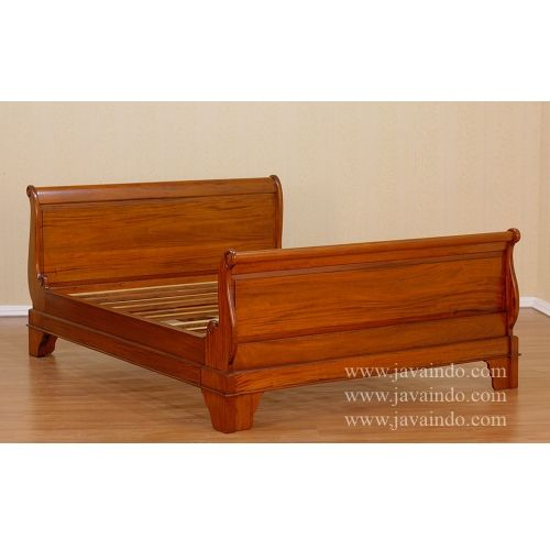 Sleigh Bed Frame From Solid Mahogany Wood With Queen Size This Bed Frame Has Eco Appearance With Natural Brown Sleigh Bed Frame Queen Sleigh Bed Sleigh Beds