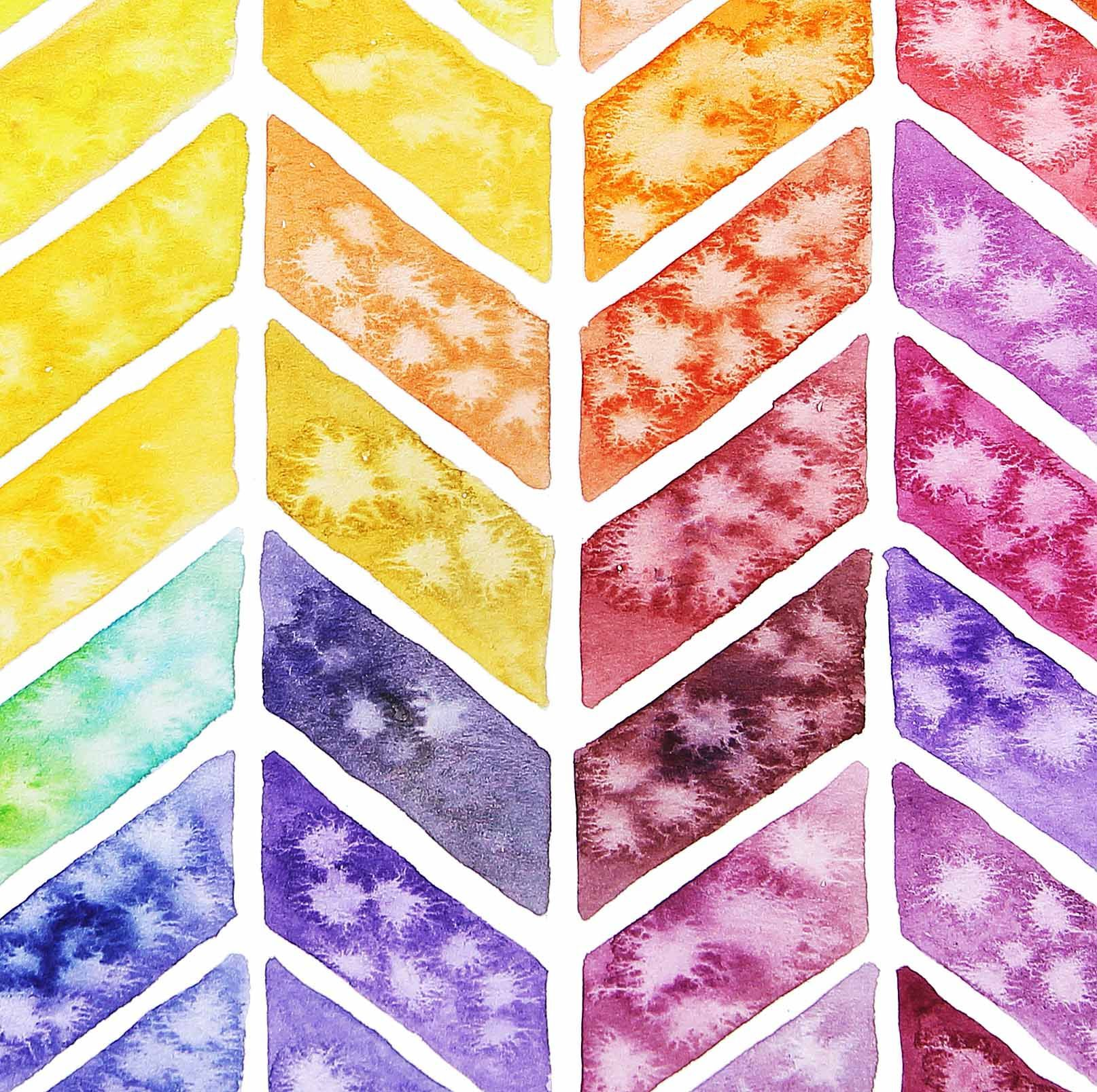 Art Watercolor Painting Techniqueswatercolor Patternwatercolorschevronwatercolor