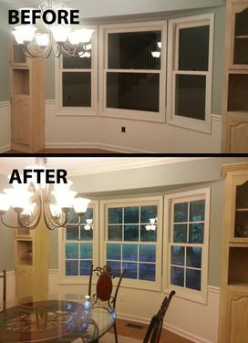 Quick Easy Faux Window Panes With Electrical Tape I M Doing