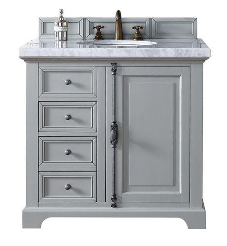 36 brittany single bathroom vanity urban gray bath - Small bathroom vanity with drawers ...