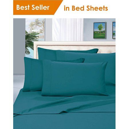 Merveilleux Elegant Comfort® Luxury Silky Soft 1800 Series Premium Collection   Wrinkle Free  Bed Sheet Set, Deep Pocket Up To 16 Inch, Queen Turquoise