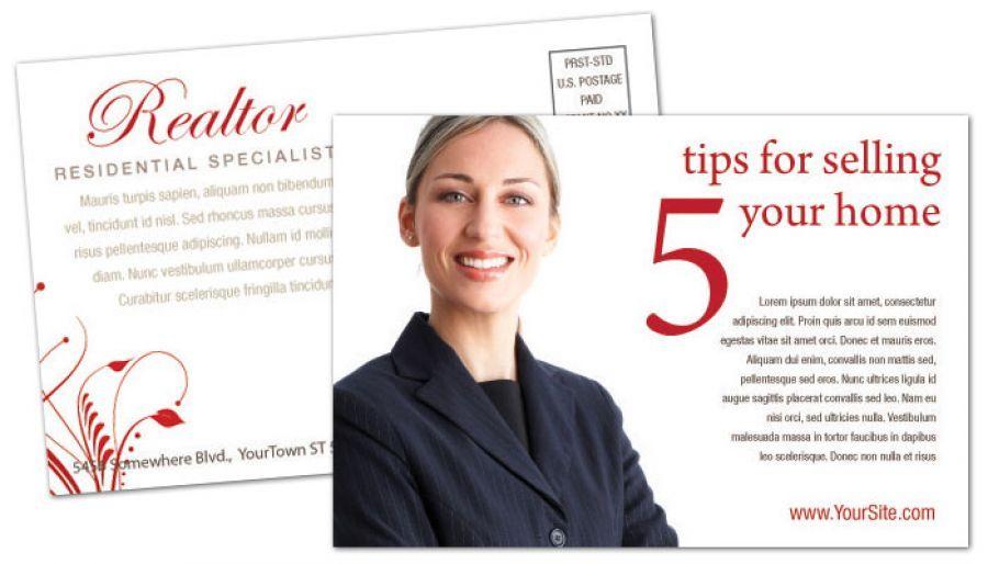 real estate agent postcards