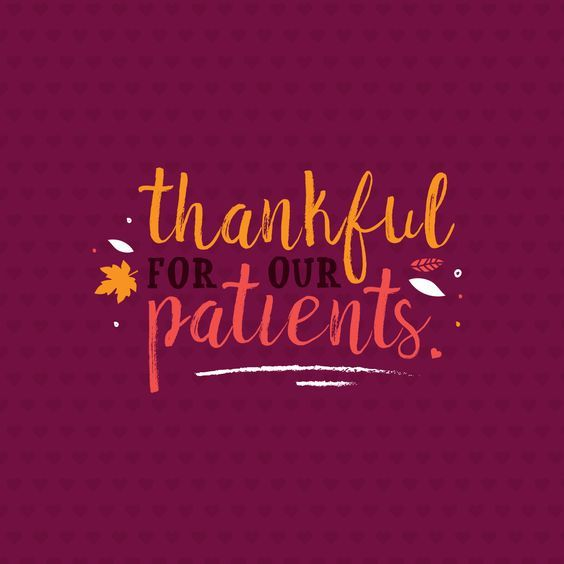 Paterson Nj Garbage Schedule: We Are Thankful For Each One Of Our Patients!