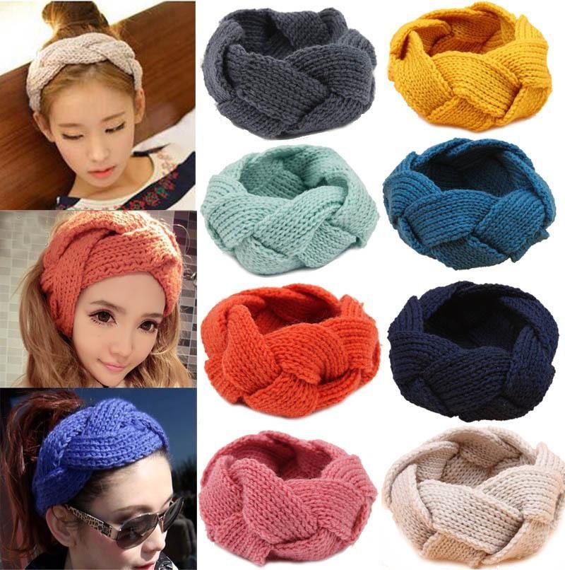 Winter Knitted Twist Hairband Warmer Crochet Ear Headband Girls Headwrap Ladies