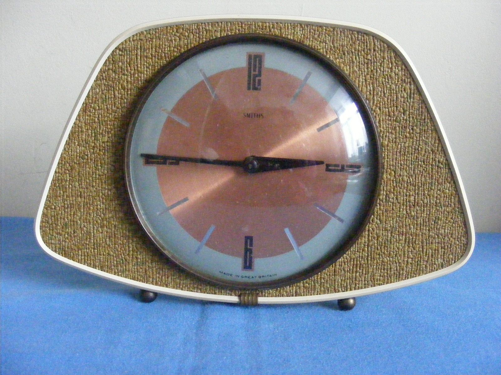 Vintage 1950s 1960s Clock Smiths Wind UP Mantel Clock   eBay