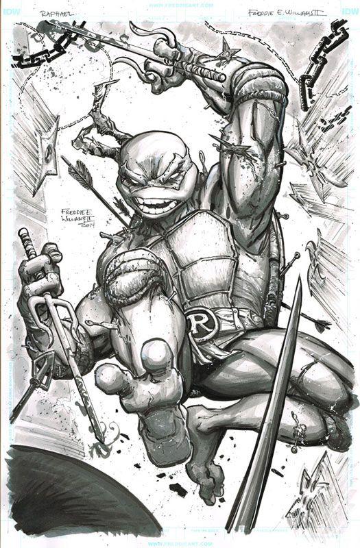 Teenage Mutant Ninja Turtles - Raphael by Freddie E. Williams II ...