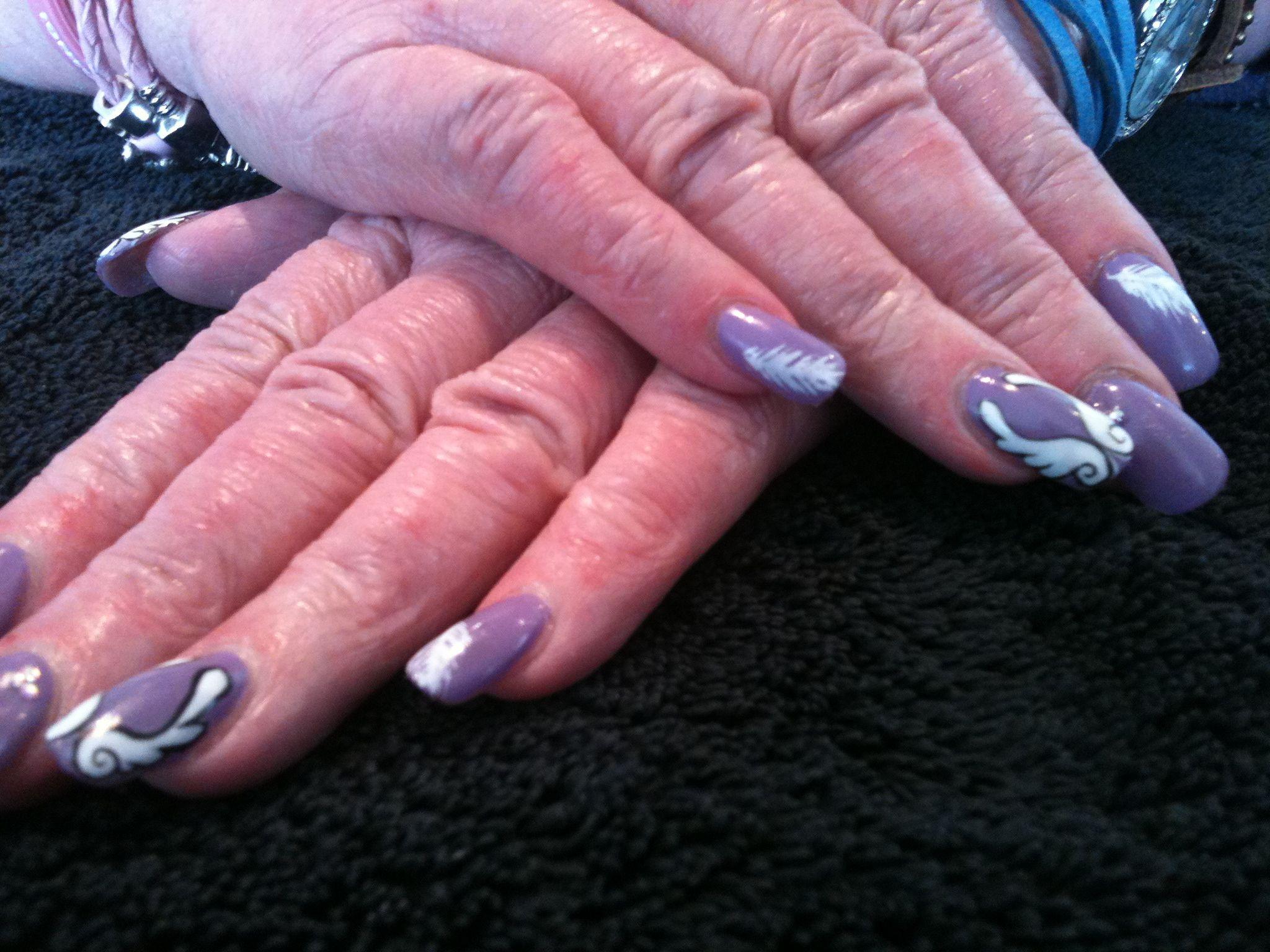 Angel Wings Nail Designs   Pin it 1 Like 1 Image   Finger Nails ...