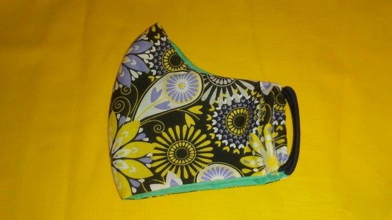 Photo of Adult Face Mask, Face Cover, Face Masks, Floral Printed Face Mask, Washable, Reversible, Reusable Mask, Cotton Mask, Handmade in USA