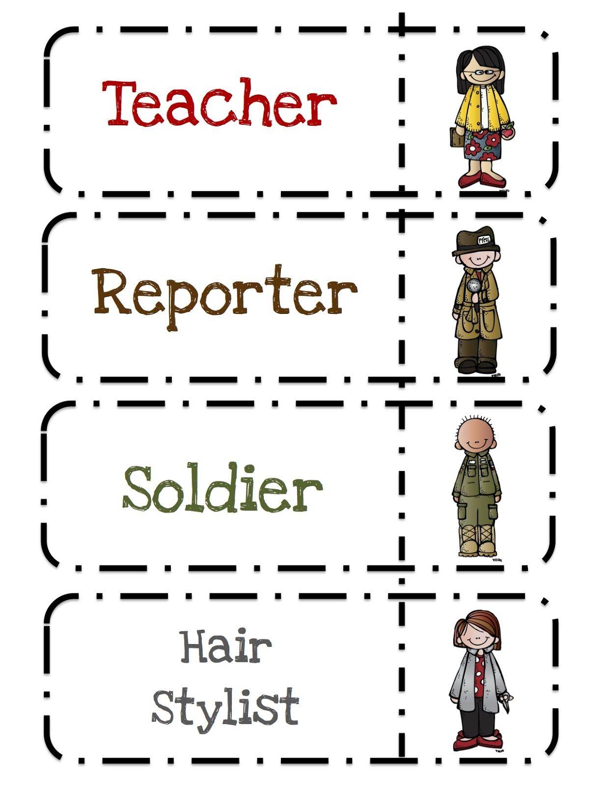 Preschool Printables Community Helpers