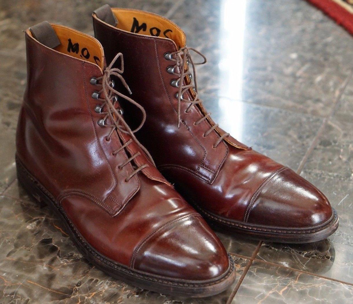 4ffcdc154c0ee Crockett   jones peal   co shell cordovan captoe boot burgundy 13 d ...
