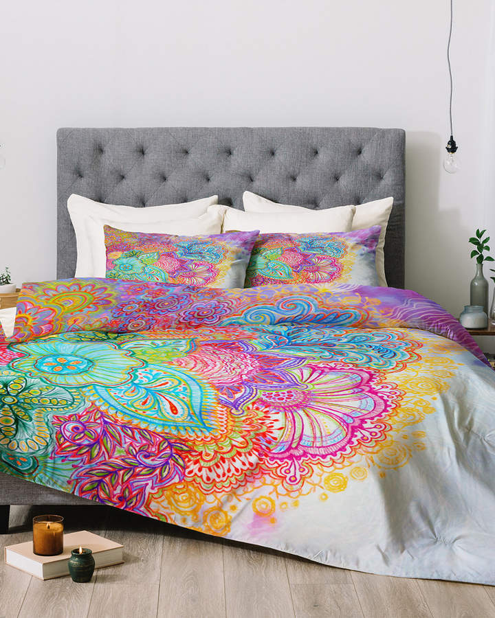 Deny Designs Stephanie Corfee Bright Floral Comforter Set Floral Comforter Sets Girl Bedroom Decor Floral Duvet Sets