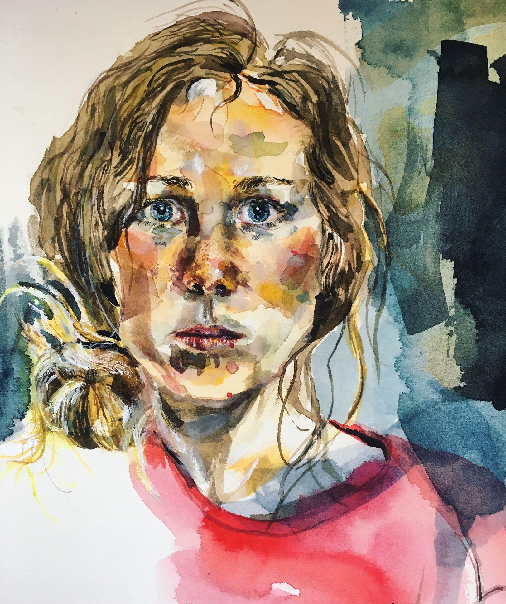 Self Portrait Entry For Sky Arts Portrait Artist Of Year 2017 Fingers Crossed For Other Works See My Website Susannadavies Co Artist Portrait Artist Sky Art