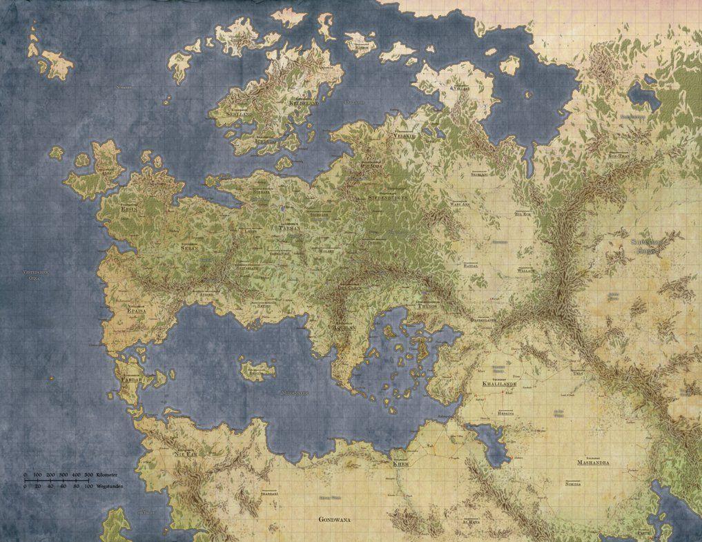 unlabeled fantasy world map Fantasy World Map