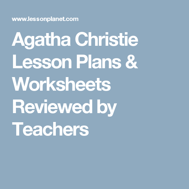 And Then There Were None Lesson Plans Teaching Guides Study