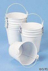 12 White Pails With Handles | Shop home | Kaboodle