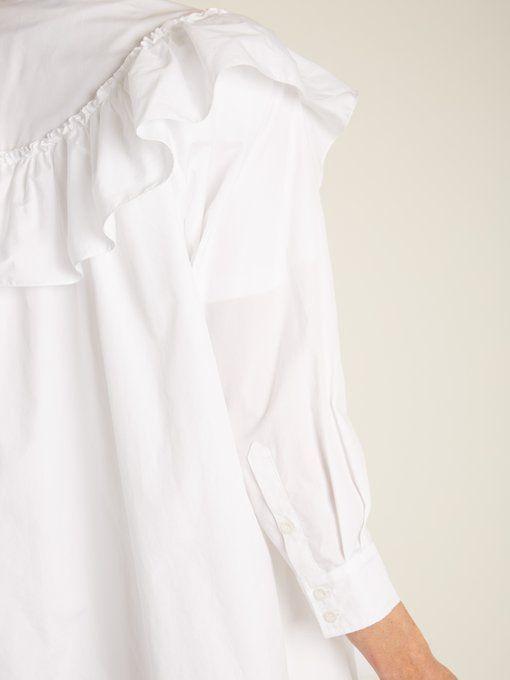 Embellished-collar tie-waist cotton shirt Simone Rocha Cheap Latest Ofq1m