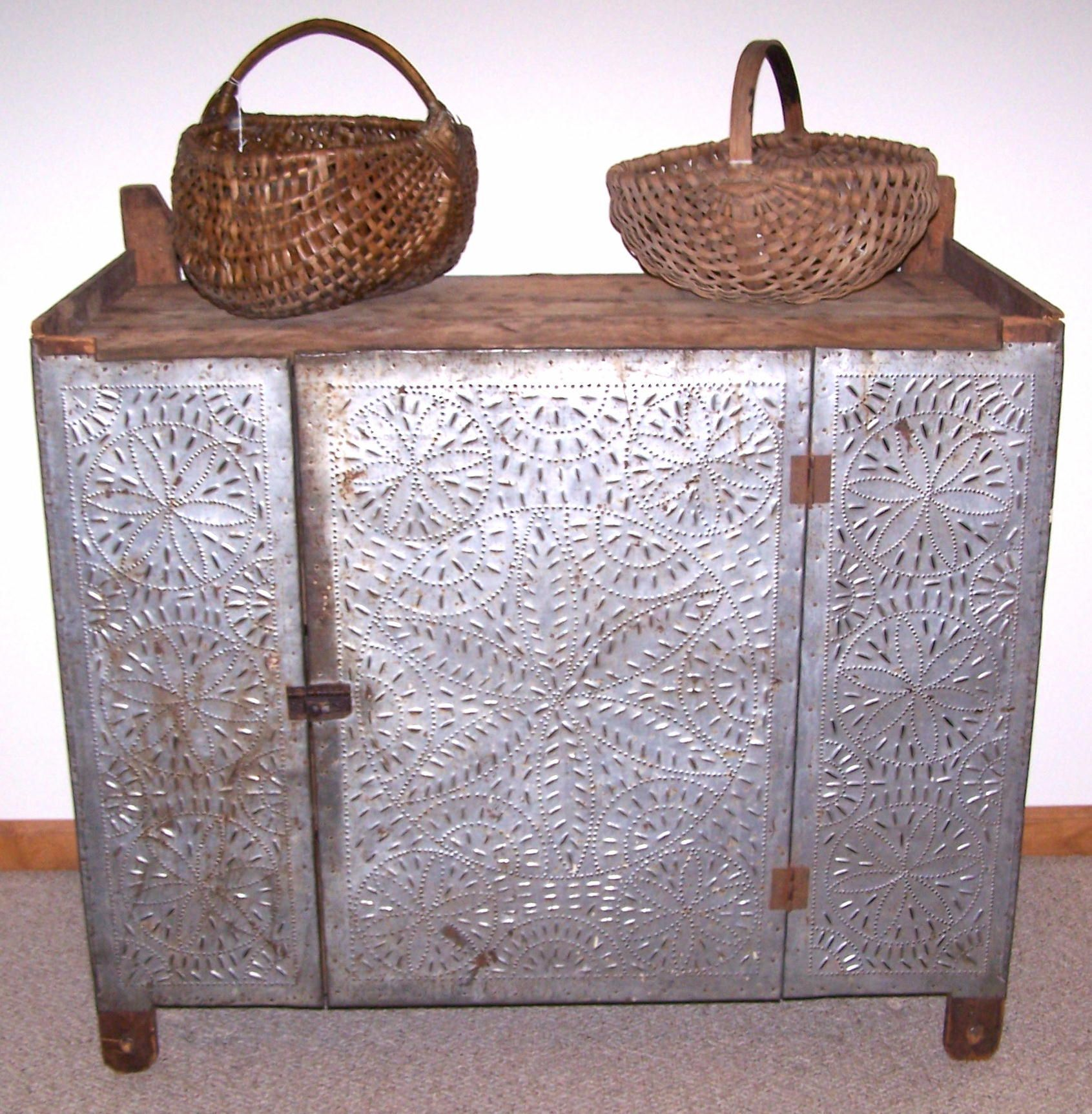 punched tin research for kitchen cabinets