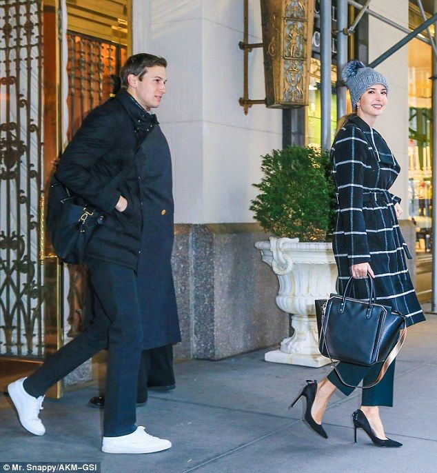 Ivanka trump finally bundles up against the cold as she for Ivanka trump jared kushner apartment