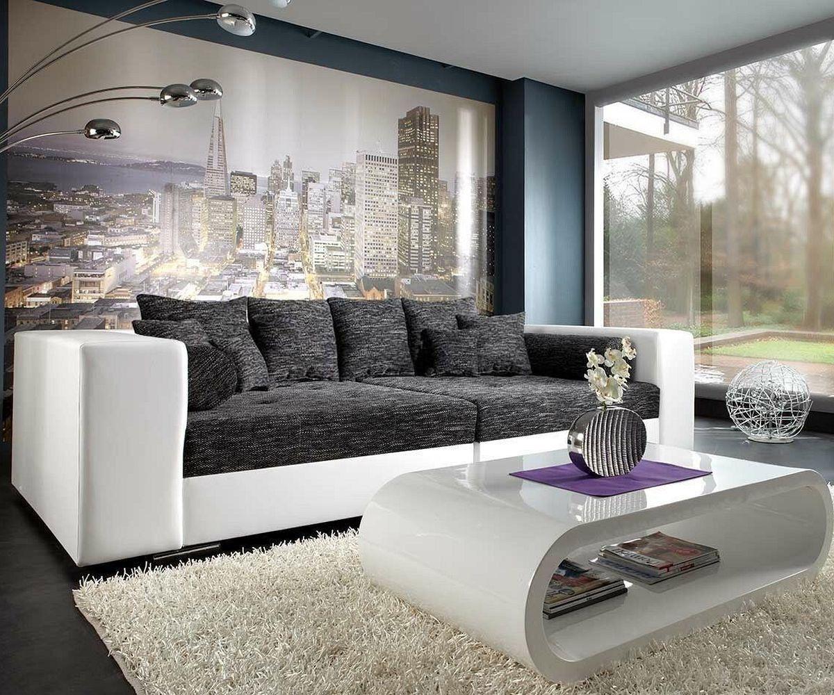 DELIFE Bigsofa Marlen 300x140 Cm Weiss Schwarz Couch, Big Sofas Jetzt  Bestellen Unter: Https