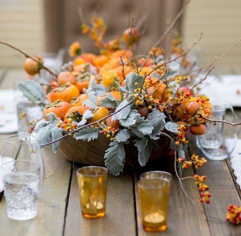 d coration table d automne comestible 25 id es saisonni res decoration table grenade et automne. Black Bedroom Furniture Sets. Home Design Ideas