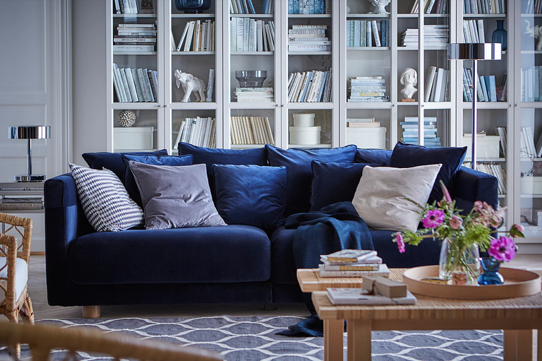 15 Of The Most Nap Worthy Couches And Chairs You Can Buy Online Blue Sofa Living Ikea Stockholm Ikea Sofa