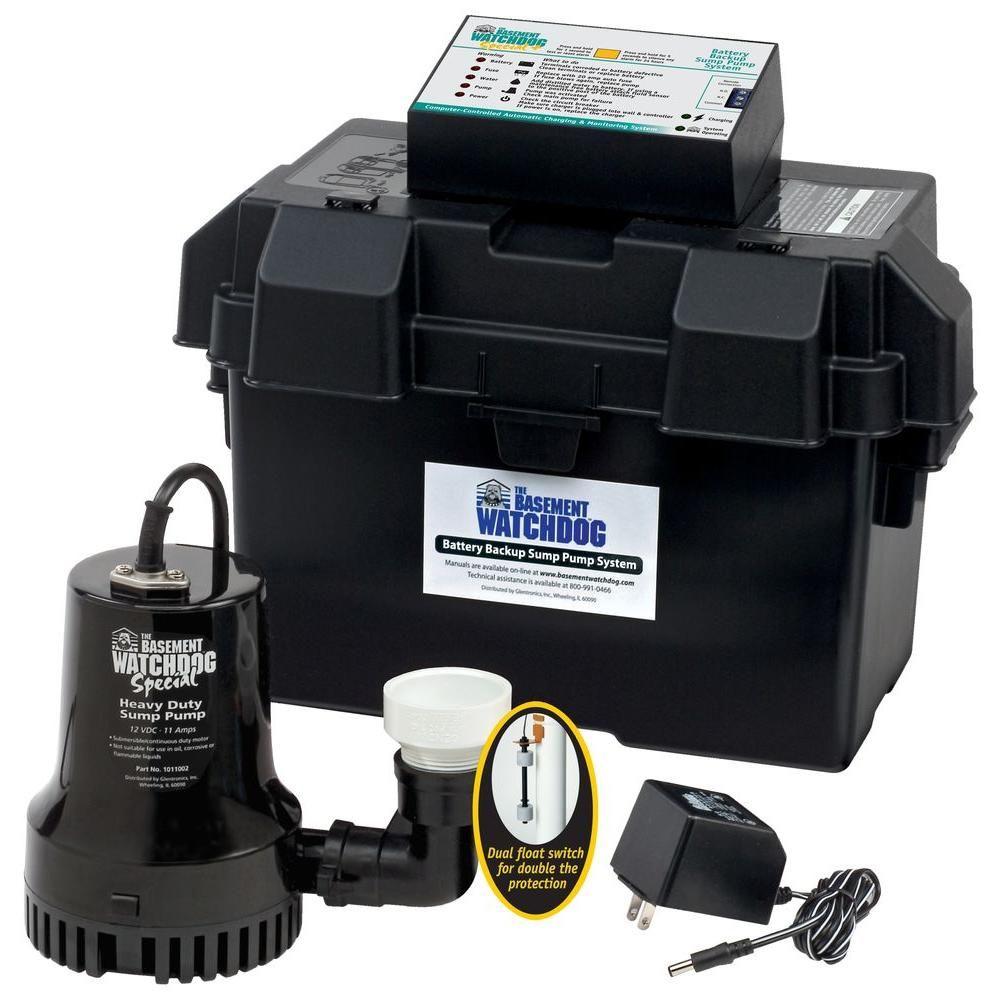 Basement watchdog 033 hp special battery backup sump