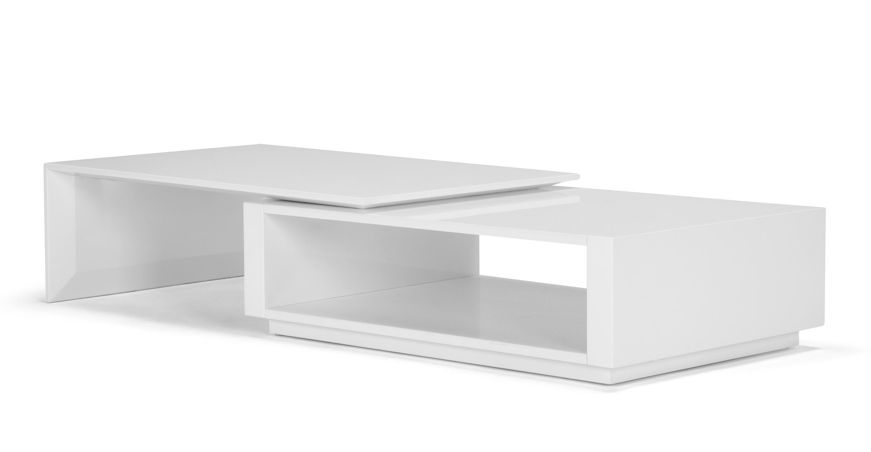 - Bramante, Table Basse Extensible, Blanc Contemporary Coffee