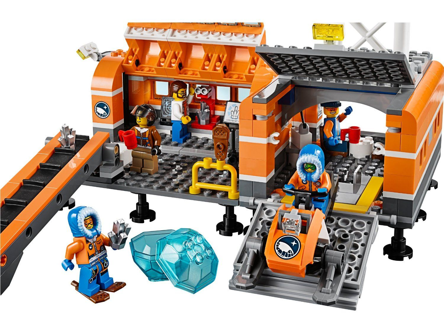 Pin lego 60032 city the lego summer wave in official images on - Lego City 60036 Arctic Base Camp Lego Amazon Co Uk