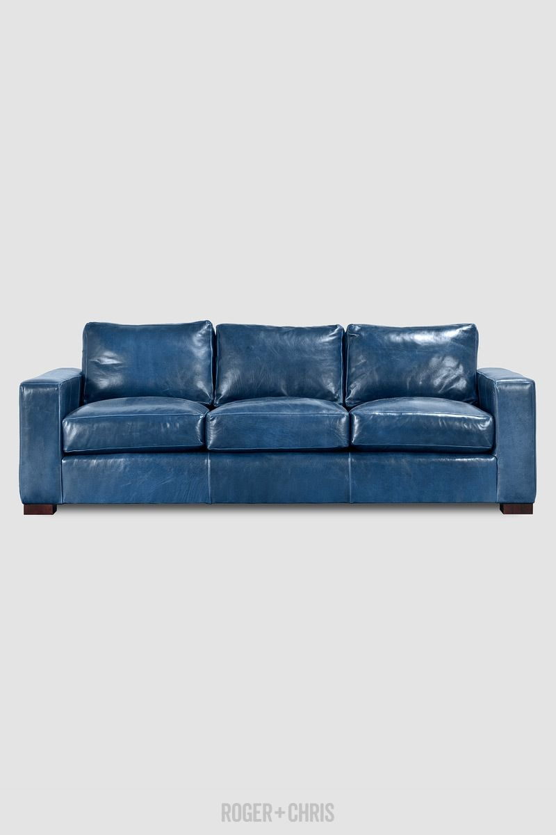 Ashley Sofa In Firenze Galaxy Roger Chris Blue Leather Sofa