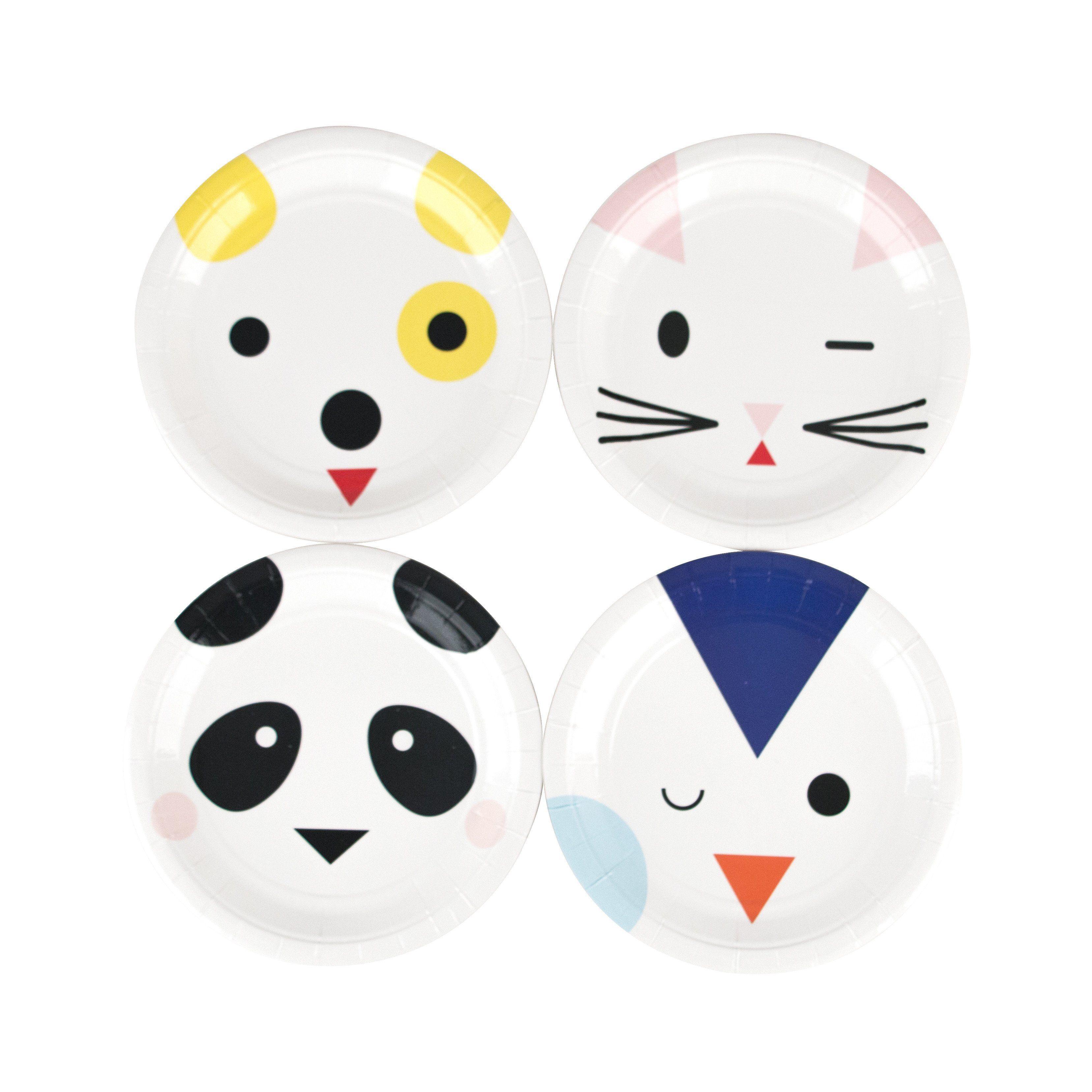MINI ANIMALS Panda Cat Dog Party Tableware Napkins Plates Balloons