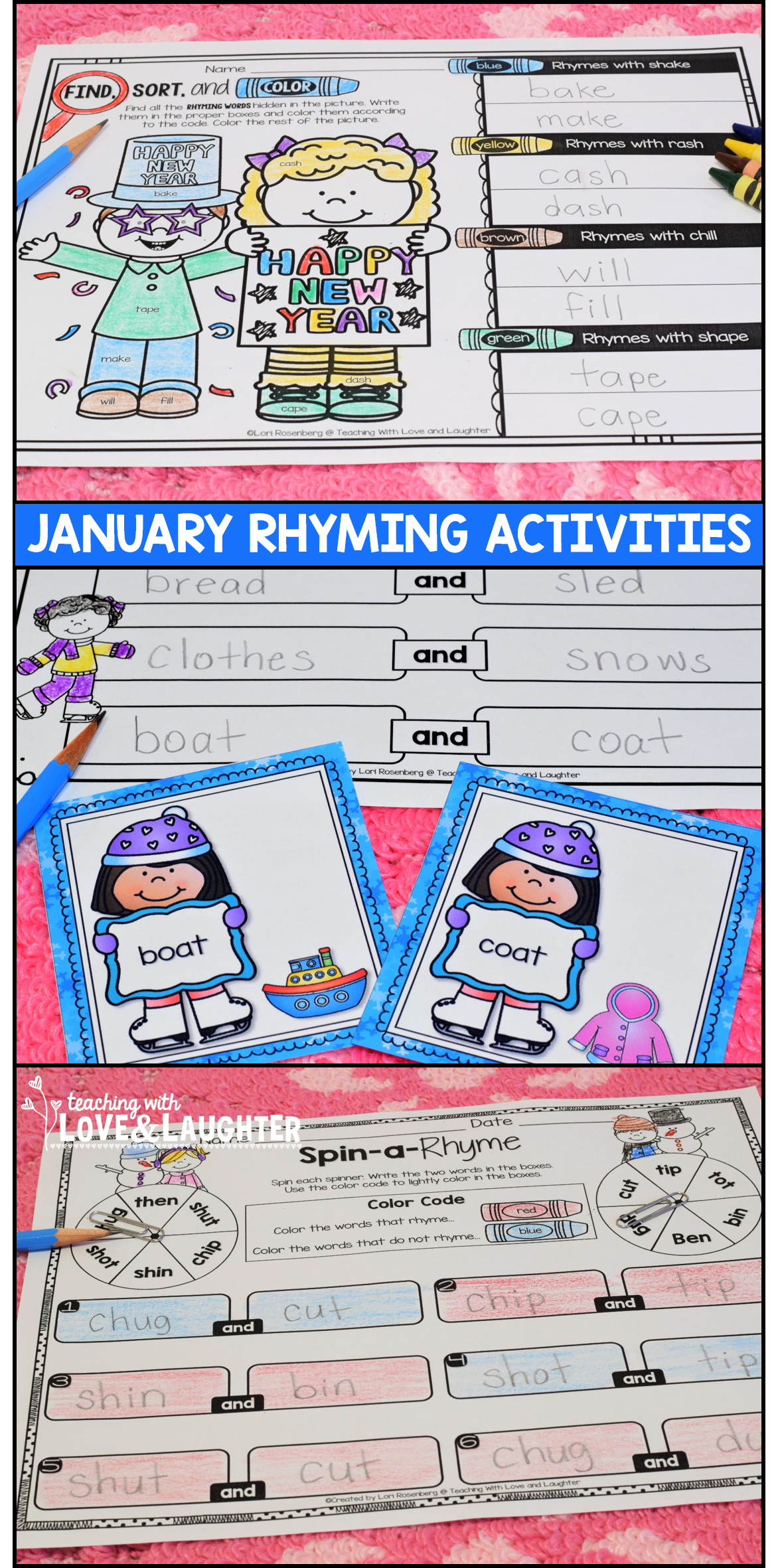January Rhyming Activities With Images