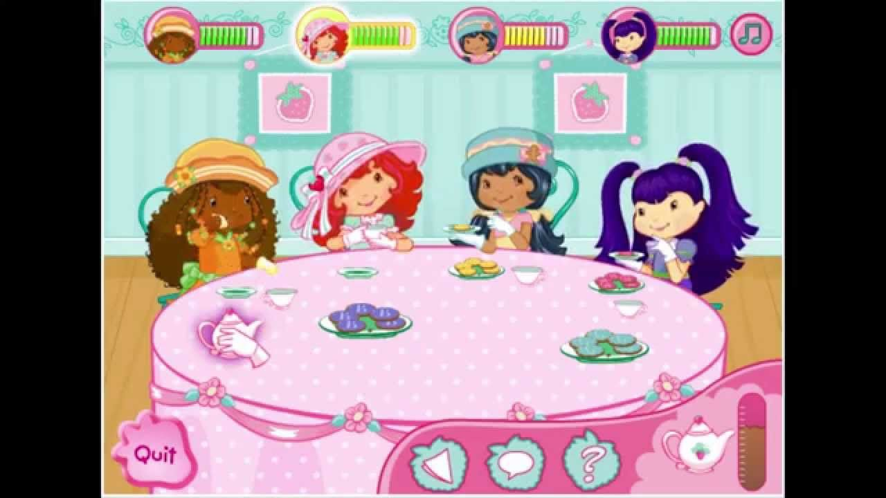 Strawberry Shortcake Mind Your Manners Tea Party Game Play Walkthrough