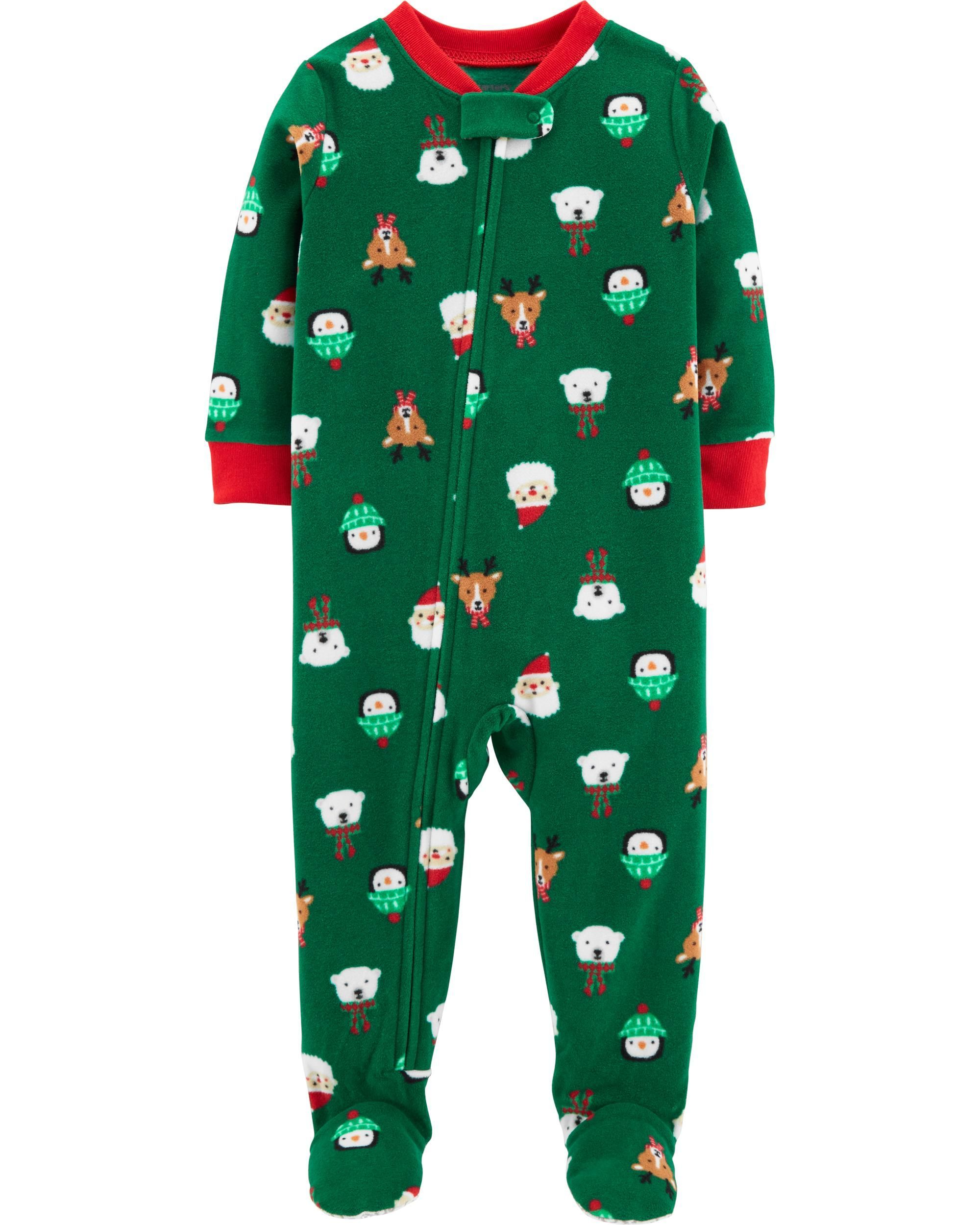 1Piece Baby Christmas Fleece PJs Kids clothing canada