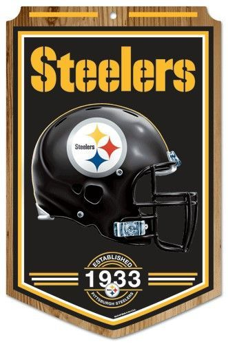 Pittsburgh Steelers Wood Sign 11x17 Established Design Steelers Sign Pittsburgh Steelers Pittsburgh