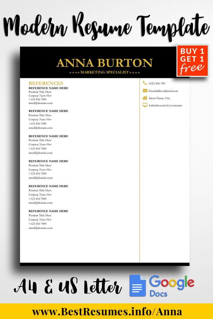 Professional resume template anna burton resume template