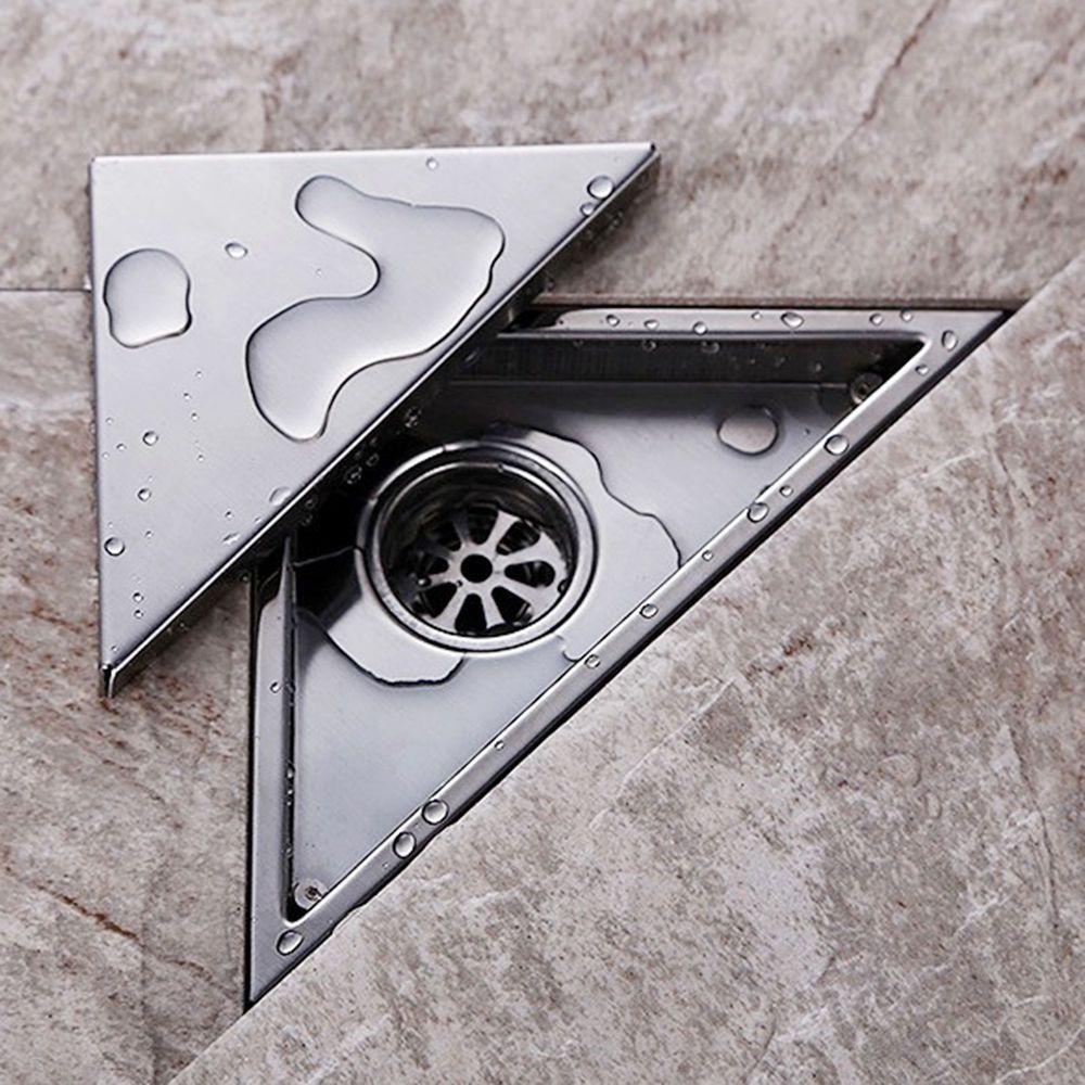 Modern Chrome Bathroom Floor Drain Triangle Invisible