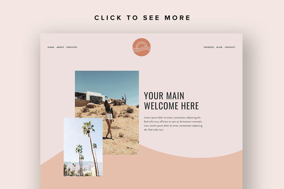 Squarespace Template Ventura Squarespace Templates Beautiful Website Design Professional Business Card Design