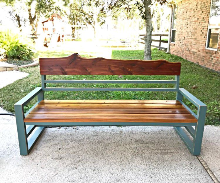 Diy outdoor sofa from 2x4 pine build plans wood