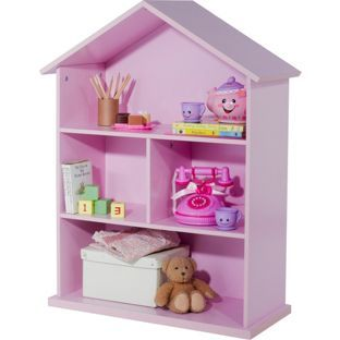 Mia Dolls House Bookcase Pink From Homebase Co Uk