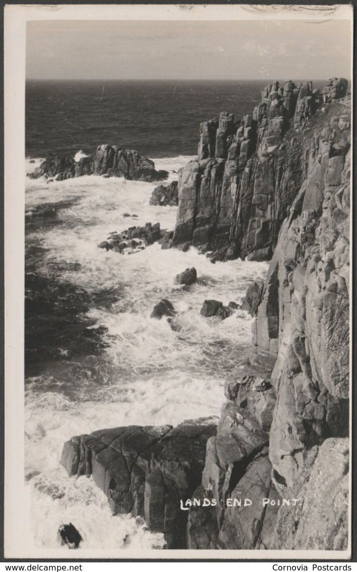 Lands End Point, Cornwall, c.1930s - RP Postcard