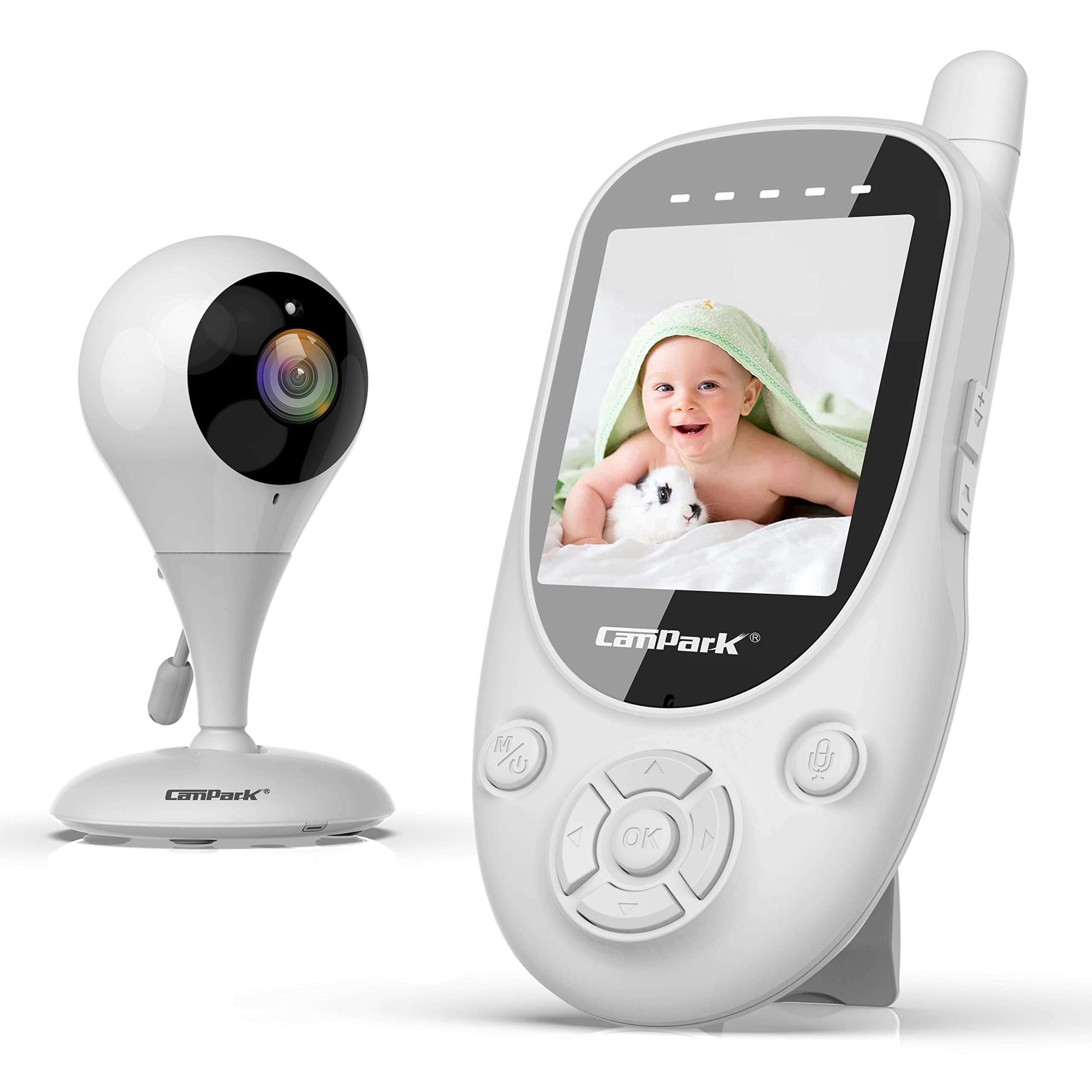 Campark Baby Monitor 2 4ghz Wireless Video Digital Baby Camera With 1000ft Range Transmission Night Vision 2 Way Talk Vox Temperature S Baby Monitor Wireless Baby Monitor Baby Sounds
