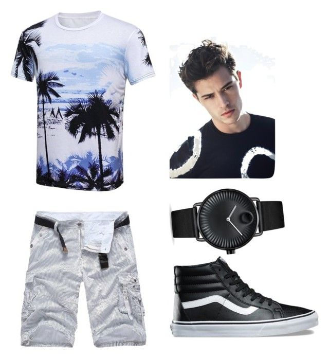 """Random #discription"" by ayeshaghori ❤ liked on Polyvore featuring Vans, Movado, men's fashion, menswear, me and men"