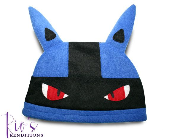 08c4484bf83da  30.00 - Pokemon Lucario Hat by riomccarthy on Etsy Handmade fleece hat  designed and sewn by Rio McCarthy to resemble Lucario from Pokémon for the  20th ...