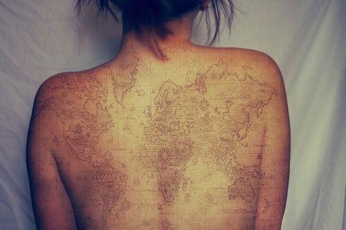 Map tattoo. Leading to treasure, perhaps?