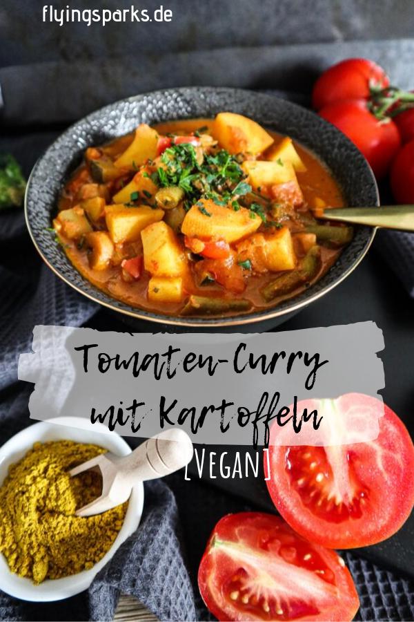 VEGANES TOMATEN-CURRY | mit Kartoffeln #herbstgerichte