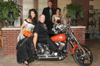 Harley-Davidson Wedding Dresses | Harley Davidson Wedding Favors on ...